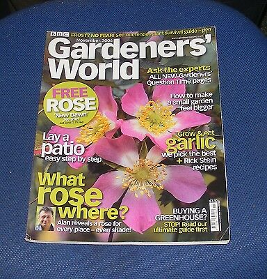 Gardeners' World November 2006 - What Rose Where?/lay A Patio/grow & Eat Garlic