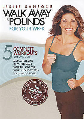 Leslie Sansone: Walk Away the Pounds - For Your Week (DVD, 2009, With...