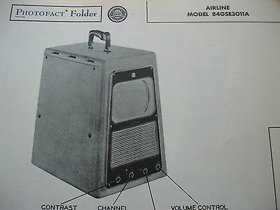 Airline 84Gse3011A Television  Photofact