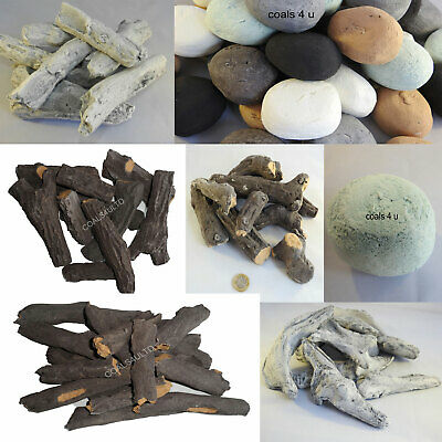 Gas Fire Coal Replacements Fire Coals Stones Pebbles Logs Vermiculite Universal