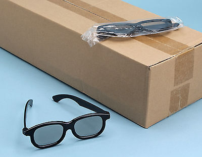 100 Stereo 3D Glasses POLARIZED Plastic Frame Linear Passive Stereoscopic