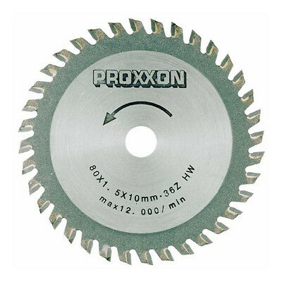 Proxxon 28732 3-9/64-Inch 85mm Carbide Tipped Saw Blade 36-Teeth
