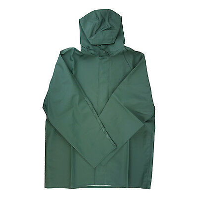 Dutch Harbor Gear HD201-GRN-L Green Large Quinault Rain Jacket