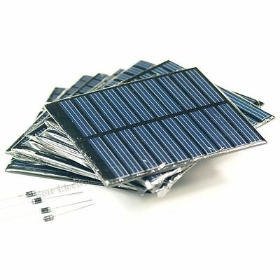 10pcs 10X 5V, 150mA 750mW 7.5Watts 7.5W Total Solar Panel Power Cell For Charger