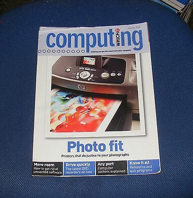 Which? Computing January 2003 - Photo Fit - Printers