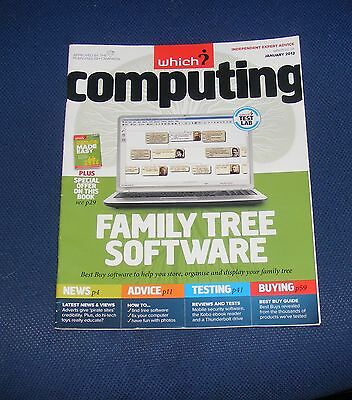 Which? Computing January 2012 - Family Tree Software