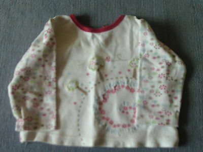 Baby Girls 3-6 Months - White Floral Long Sleeve Top - Love Your Planet