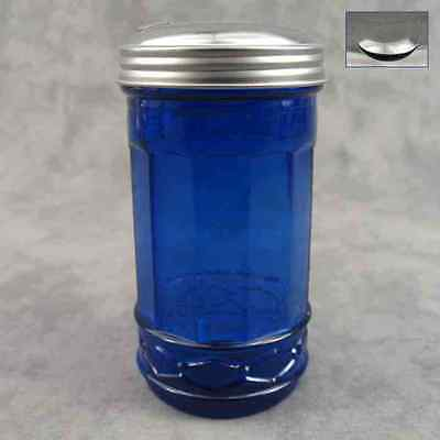 COBALT BLUE GLASS SUGAR SHAKER with FLIP SPOUT DISPENSER ~ DINER STYLE ~
