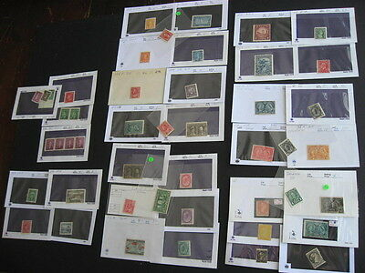 CANADA scrap pile of old better in sales cards, mostly diff,very mixed condition