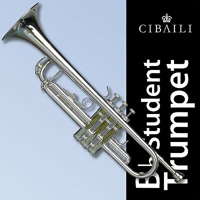 Black Bb Trumpet • CIBAILI High Quality • Brand New With Case • Great for school