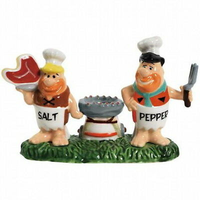 The Flintstones Chefs Fred and Barney Salt & Pepper Shakers/Toothpick Holder NEW