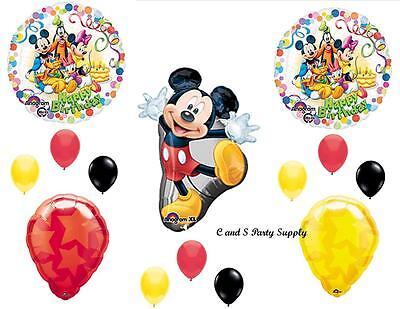MICKEY MOUSE CLUBHOUSE HAPPY BIRTHDAY PARTY BALLOONS Decorations Supplies Disney