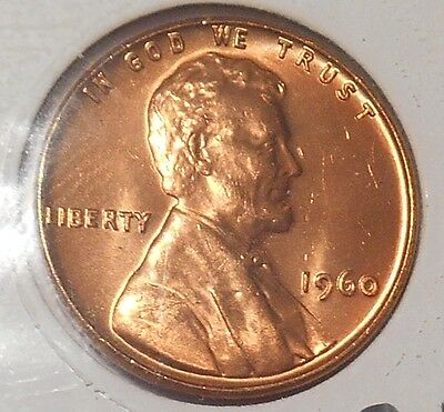 1960 P Lincoln cent  Small Date variety  uncirculated Philadelphia