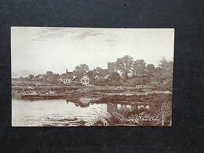 Early Morning - Goring On Thames , Oxfordshire - Vintage B/w Postcard