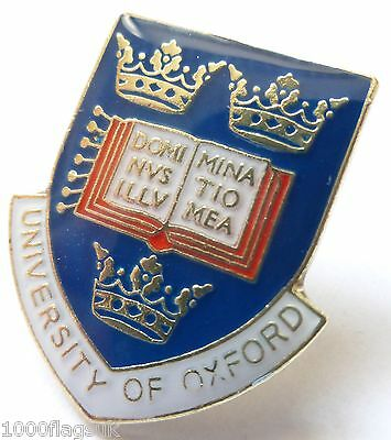 Oxford University Crest Shield Licensed Pin Badge