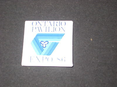 Expo 86 Vancouver, BC Ontario Pavilion Button        c7