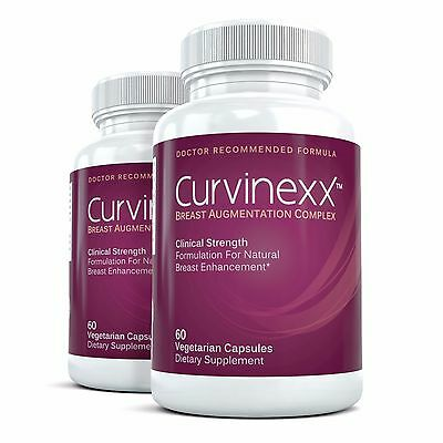 2x CURVINEXX Clinical Strength Breast Augmentation Supplement - Bust Enhancement