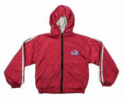 Colorado Avalanche NHL Youth Lightweight Reversible Hooded Jacket, Maroon