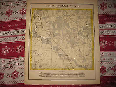 Antique 1873 Avon Township Rock County Wisconsin Handcolored Map Superb Nr
