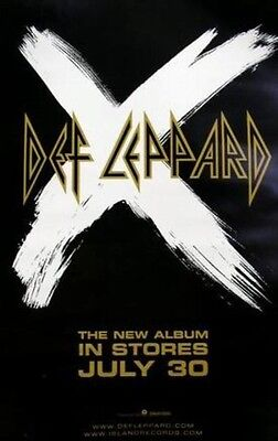DEF LEPPARD 2002 advance X rare promotional poster!!~~MINT condition~~!