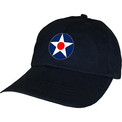 Usaac Army Air Corps Usaf WW2 Roundel Fighter Bomber Airforce Warplanes Hat