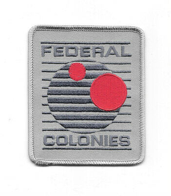 First Total Recall Movie Federal Colonies Logo Embroidered Patch, NEW UNUSED