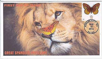 Jvc Cachets - Great Spangled Frillery First Day Covers Fdc Butterfly Topical #2
