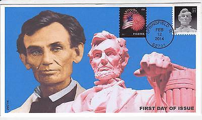 Jvc Cachets - 2014 Abraham Lincoln 21 Cent Issue First Day Covers Fdc Topical #1