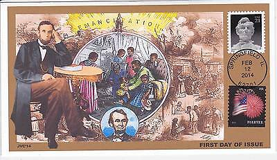 Jvc Cachets - 2014 Abraham Lincoln 21 Cent Issue First Day Covers Fdc Topical #3