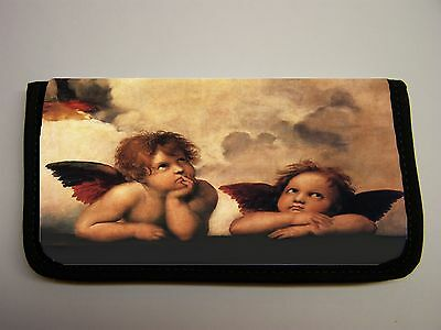 Raphael Two Angels  Image Neoprene Fabric  Checkbook Cover