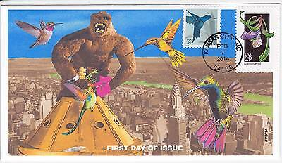 Jvc Cachets - 2014 Hummingbirds First Day Covers Fdc Topical Birds - King Kong