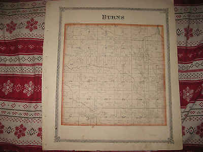 Antique 1875 Burns Cornwall Township Orion Henry County Illinois Handcolored Map
