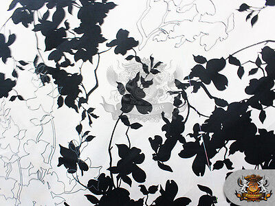 """100% Cotton Quilt Prints - """"B & W TREE BRANCH"""" Fabric / 60"""" Wide / Sold BTY"""