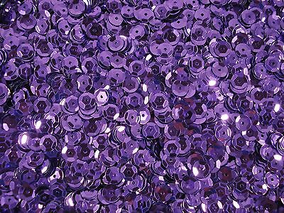 Sequins Metallic Cup 6mm Lavender Purple 25g Dance Sewing Craft FREE POSTAGE