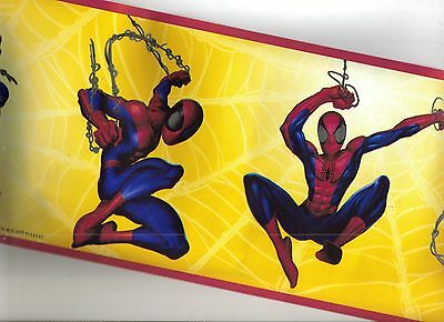 Spiderman On Yellow Background Wallpaper Border  Bz9111B