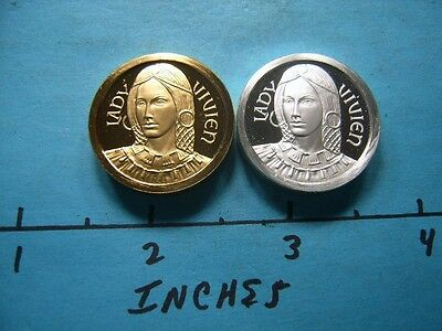Lady Vivien Set Of 2 King Arthur Camelot Series  Only 2 On Ebay Sharp Rare