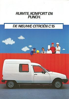 Citroen C15 Brochure (Dutch)