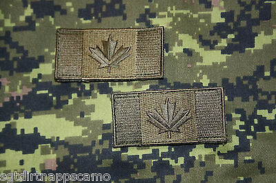 Canadian Forces Subdued Shoulder Patch Flags -medium size- Olive Drab O.D