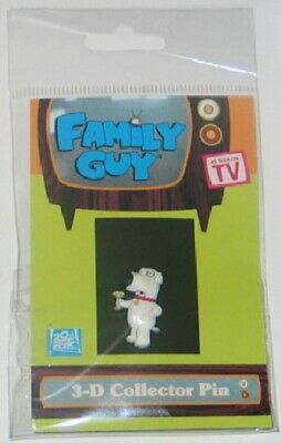 The Family Guy TV Show Brian 3-D Figure Ruberized Pin, NEW UNUSED