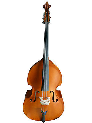 Double Bass,brown-matte, plywood, 3/4 size new