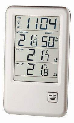Poolthermometer Malibu Tfa 30.3053 Funk-Schwimmbadthermometer Teichzubehör