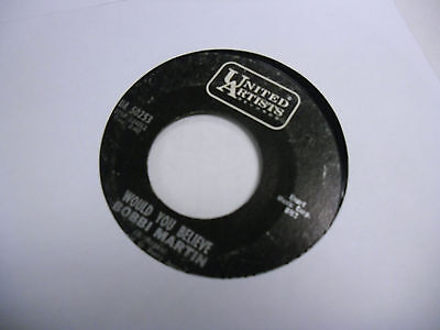 Bobbi Martin Only You/Would You Believe 45 RPM United Artists Records VG+