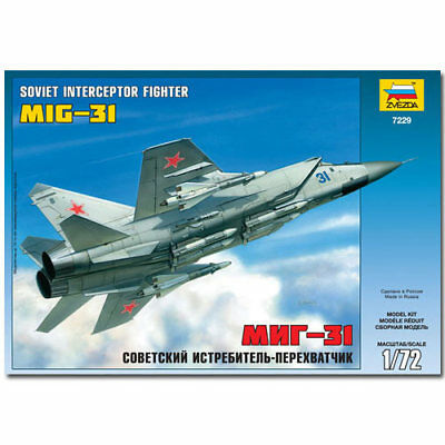 Zvezda Model Kit 7229 Mig-31 Fighter Interceptor Aircraft 1:72
