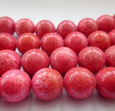 8Pcs Red Gemstone Beads Finding--Jewelry Accessory--15mm