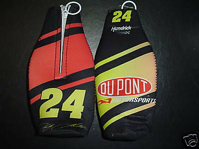 2 CT LOT JEFF GORDON #24 Nascar Tailgate Party Bottle Holder w zipper BEER SODA