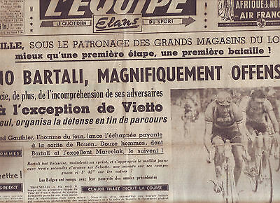 journal l 39 quipe du 18 07 48 cyclisme tour de france 1948 bobet et sa femme eur 16 99. Black Bedroom Furniture Sets. Home Design Ideas