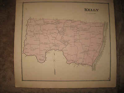 Antique 1868 Kelly Township West Milton Union County Pennsylvania Handclr Map Nr