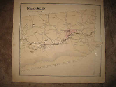 Antique 1868 Franklin Township Middleburg Beaver Furnace Pennsylvania Hndclr Map