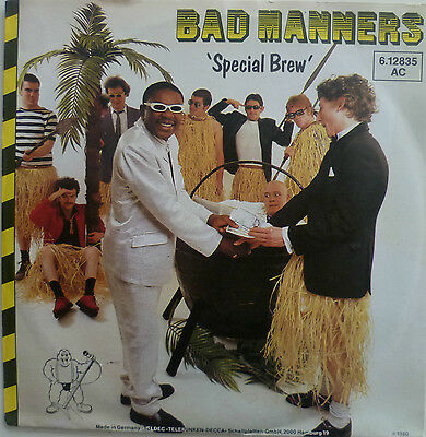 """7"""" 1980 SKA RARE IN MINT- ! BAD MANNERS : Special Brew"""