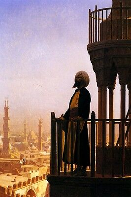 Le Muezzin The Call To Prayer 1865 Mosque Orientalist Painting By Gerome Repro